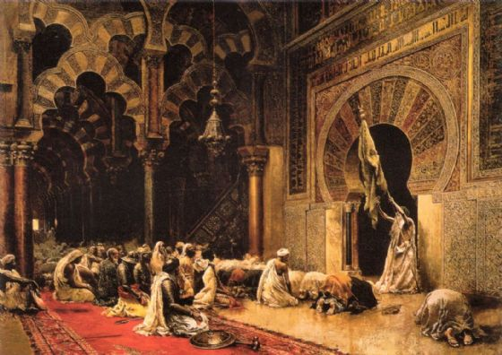 Weeks, Edwin Lord: The Interior of the Mosque at Cordoba. Fine Art Print/Poster. Sizes: A4/A3/A2/A1 (00142)